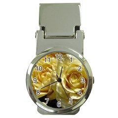 Yellow Roses Money Clip Watches