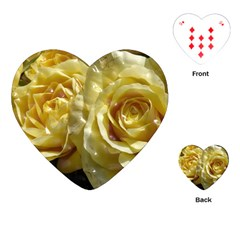 Yellow Roses Playing Cards (heart)