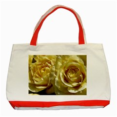 Yellow Roses Classic Tote Bag (red)