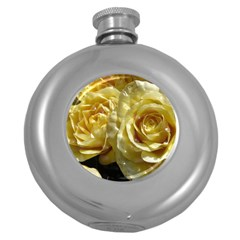 Yellow Roses Round Hip Flask (5 Oz)