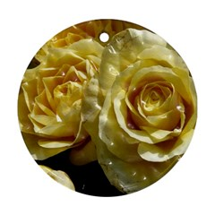 Yellow Roses Round Ornament (two Sides)