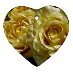 Yellow Roses Heart Ornament (2 Sides)