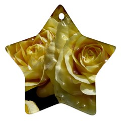 Yellow Roses Star Ornament (two Sides)