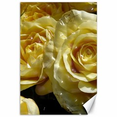 Yellow Roses Canvas 12  X 18