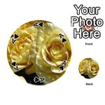 Yellow Roses Playing Cards 54 (Round)  Front - SpadeA
