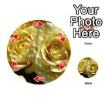 Yellow Roses Playing Cards 54 (Round)  Front - Heart9