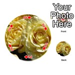 Yellow Roses Playing Cards 54 (Round)  Front - Diamond2