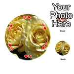 Yellow Roses Playing Cards 54 (Round)  Front - Diamond4