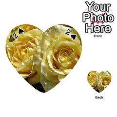 Yellow Roses Playing Cards 54 (heart)