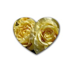Yellow Roses Rubber Coaster (heart)