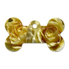 Yellow Roses Dog Tag Bone (one Side)