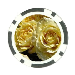 Yellow Roses Poker Chip Card Guards