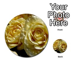 Yellow Roses Multi-purpose Cards (Round)