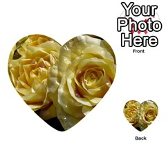 Yellow Roses Multi Purpose Cards (heart)