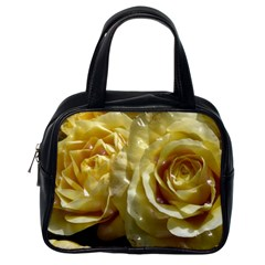 Yellow Roses Classic Handbags (one Side)