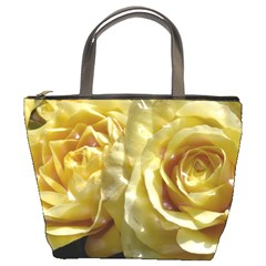 Yellow Roses Bucket Bags