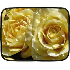 Yellow Roses Fleece Blanket (Mini)