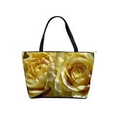 Yellow Roses Shoulder Handbags