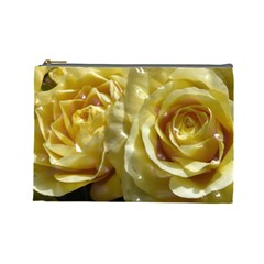 Yellow Roses Cosmetic Bag (large)