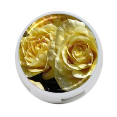 Yellow Roses 4 Port Usb Hub (one Side)
