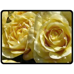 Yellow Roses Fleece Blanket (Large)