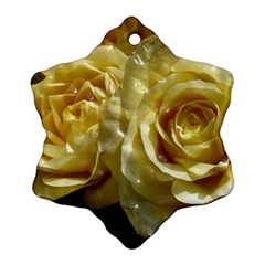 Yellow Roses Snowflake Ornament (2-Side)