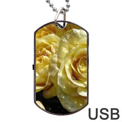 Yellow Roses Dog Tag Usb Flash (two Sides)