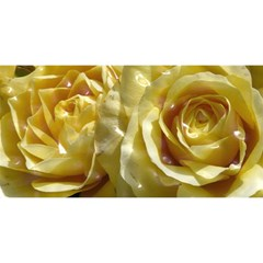 Yellow Roses You Are Invited 3d Greeting Card (8x4)
