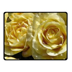 Yellow Roses Double Sided Fleece Blanket (small)