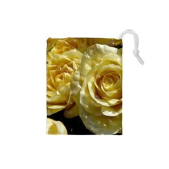 Yellow Roses Drawstring Pouches (small)