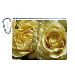 Yellow Roses Canvas Cosmetic Bag (L)