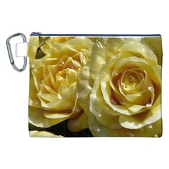 Yellow Roses Canvas Cosmetic Bag (XXL)