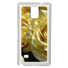 Yellow Roses Samsung Galaxy Note 4 Case (White)