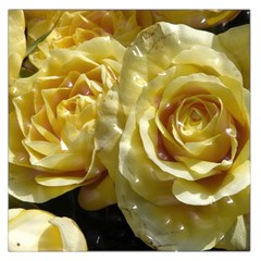 Yellow Roses Large Satin Scarf (Square)