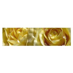 Yellow Roses Satin Scarf (Oblong)