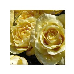 Yellow Roses Small Satin Scarf (Square)