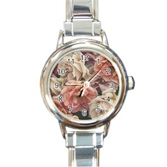 Great Garden Roses, Vintage Look  Round Italian Charm Watches