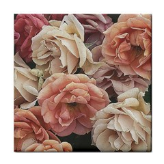 Great Garden Roses, Vintage Look  Tile Coasters