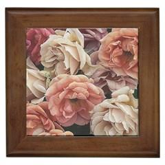 Great Garden Roses, Vintage Look  Framed Tiles