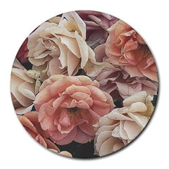 Great Garden Roses, Vintage Look  Round Mousepads