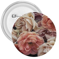 Great Garden Roses, Vintage Look  3  Buttons