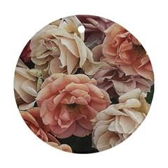 Great Garden Roses, Vintage Look  Ornament (Round)
