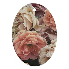 Great Garden Roses, Vintage Look  Ornament (oval)