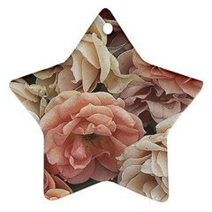 Great Garden Roses, Vintage Look  Ornament (star)