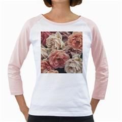 Great Garden Roses, Vintage Look  Girly Raglans