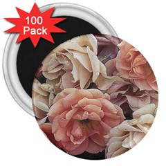 Great Garden Roses, Vintage Look  3  Magnets (100 Pack)