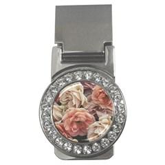 Great Garden Roses, Vintage Look  Money Clips (cz)