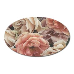 Great Garden Roses, Vintage Look  Oval Magnet