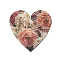 Great Garden Roses, Vintage Look  Heart Magnet