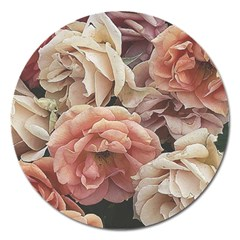 Great Garden Roses, Vintage Look  Magnet 5  (round)